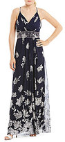 Jessica Howard Beaded-Waist Maxi Dress