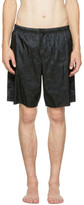 Versace Underwear Black Baroque Swim Shorts