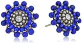 Miguel Ases Lapis and Sterling Silver Small Stud Earrings