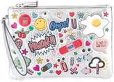 Anya Hindmarch stickers zipped clutch