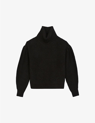 The Kooples Puff-sleeves turtleneck jumper