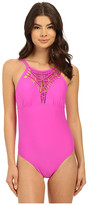 Athena Cabana Solids High Neck One-Piece