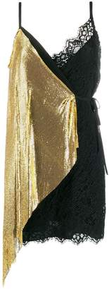 Pinko chain panel mini dress