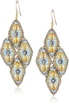 Miguel Ases Swarovski 14k Gold Filled Drop Earrings