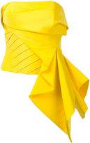 Rubin Singer draped strapless top