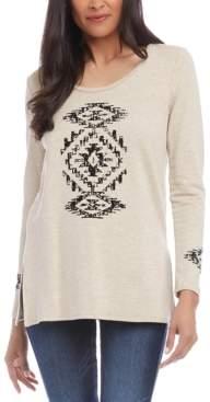 Karen Kane Graphic Vented-Hem Sweater