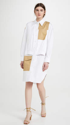 Tibi Double Layer Pocket Dress