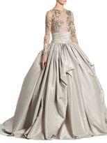 Marchesa Taffeta Beaded Gown