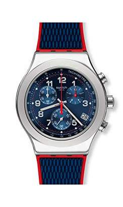 Swatch 1901 Irony Stainless Steel Quartz Rubber Strap