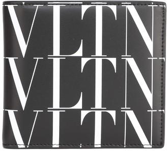 Valentino Black & White Vltn Leather Wallet