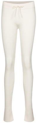 Reebok x Victoria Beckham Cotton, silk and linen jersey leggings