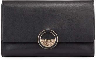 Versace Small Saffiano Crossbody Bag, Black