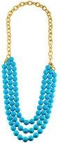 Kenneth Jay Lane Blue Bead Strand Necklace