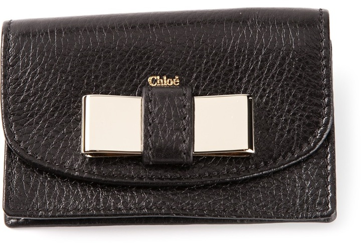 Chloé metallic bow purse