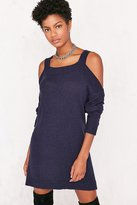 BDG Cold Shoulder Dolman Sweater Mini Dress