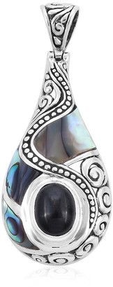 Shop Lc 925 Sterling Silver Black Star Abalone Shell Pendant Ct 3.8