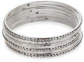Lois Hill Sterling Silver 7-Stack Bangle Bracelets