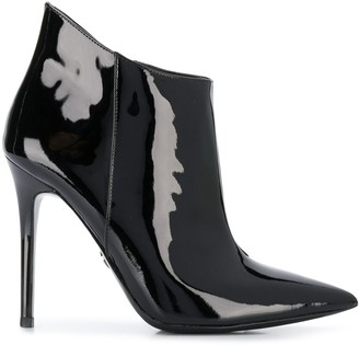 MICHAEL Michael Kors patent pointed ankle boots