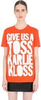 House of Holland Karlie Kloss Cotton Jersey T-Shirt