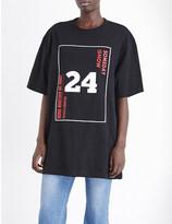 SteveJ & YoniP STEVE J & YONI P 24 cotton-jersey t-shirt