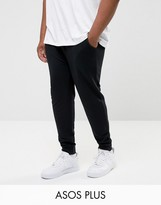 Asos Plus Skinny Jersey Joggers In Black
