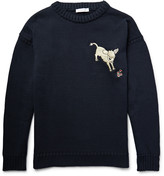 J.w.anderson - Embroidered Knitted Cotton Sweater