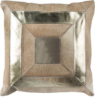 Safavieh Covina Metallic Cowhide Pillow