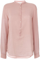 Forte Forte band collar shirt - women - Silk/Cotton - I