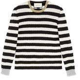 Gucci Striped merino cashmere knitted top