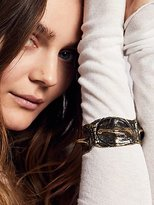 Croc Embossed Metal Cuff by Eleven44 Jewelry