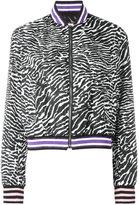 Giamba zebra pattern bomber jacket