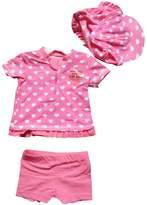 eKooBee 3pc Infant Baby Girls Swimwear Rash Guard Swimsuits Beach Swimwears
