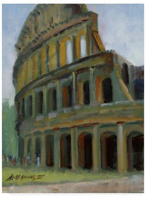 "Colosseum Hall Groat Ii 'Roman Colosseum' Canvas Art - 35"" x 47"""