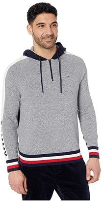 Tommy Hilfiger Adaptive Signature Hoodie (Fulmar/Yacht) Men's Clothing