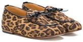 Babywalker leopard-print ballerinas