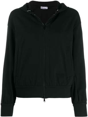 Brunello Cucinelli beaded stripe zip-up hoodie