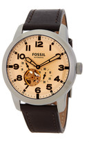 Fossil Men&s Pilot 54 Automatic Leather Strap Watch