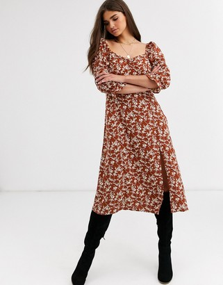 Vila puff sleeve dress-Multi