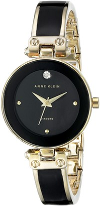 Anne Klein Womens Analogue Classic Quartz Watch with Leather Strap AK/N1980BNGB