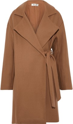 Diane von Furstenberg Belted Wool-blend Felt Coat