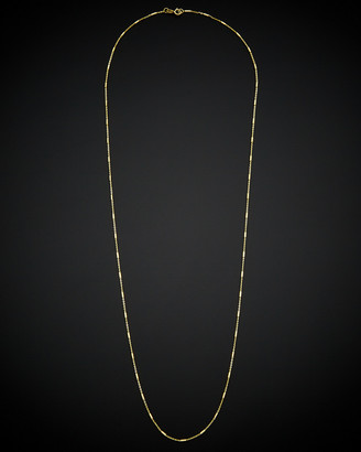 Italian Gold 14K Rolo Link Tube Station Necklace