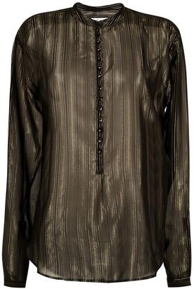 Saint Laurent sheer striped blouse