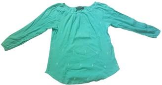 Antik Batik Turquoise Cotton Top for Women