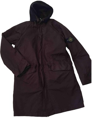 Stone Island Brown Polyester Coats