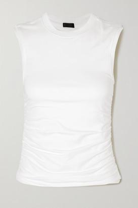 ATM Anthony Thomas Melillo Ruched Stretch-pima Cotton Jersey Tank - White