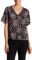 Rebecca Taylor Short Sleeve Floral Silk Aster Blouse