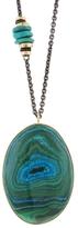 Jamie Joseph Chrysocolla, Azurite, Malachite Pendant Necklace