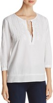 NYDJ Embroidered Voile Top