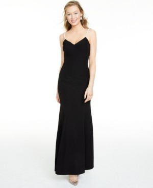 Betsey Johnson Embellished-Strap Mermaid Gown
