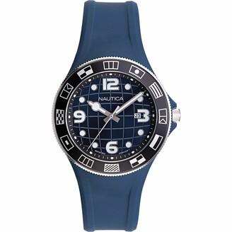Nautica Men's NAPLBS904 Lummus Beach Black Silicone Strap Watch